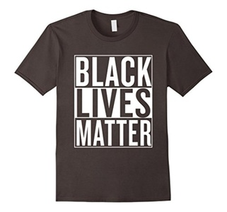 Men's Black Lives Matter Race Unity Say No Racism T-shirt 3XL Asphalt