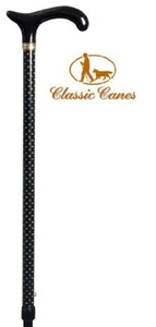 Funky & Fashionable Walking Stick Cane - Gold Sparkles by Classic Canes