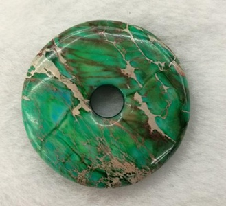 50mm Beautiful Gemstone White Turquoise Donut Pendant Bead 1Pcs,DIY Jewelry Accessories For Necklace 2