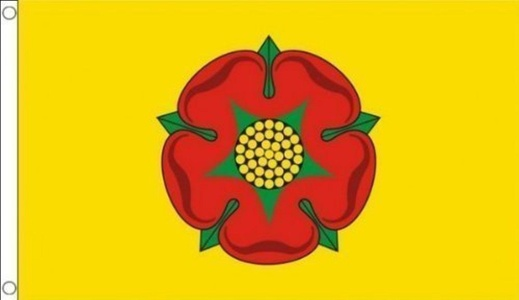 5ft x 3ft (150 x 90 cm) New Lancashire Red Rose Yellow 100% Polyester Material Flag Banner Ideal For Pub Club School Festival Business Party Decoration by Flag Co