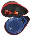 FitSand (TM) Portable Travel Carry Zipper Protective EVA Hard Case Cover Bag Box for JBL Clip Portable Bluetooth Speaker
