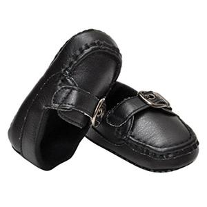 Inkach Newborn Baby Kids Non-slip Leather Prewalker Toddler Soft Sole Shoes (13, White)