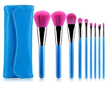 CINEEN Professional 9Pcs Classic Blue Fiber Makeup Brushes Makeup Brushes Makeup Tool Concealer Brush Eye Shadow Brush Honey Paint Brush Blush Brush Eyeliner Brush
