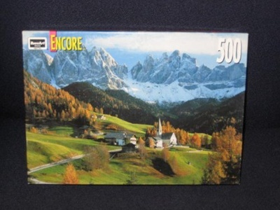 1998 RoseArt Encore 500 Piece Jigsaw Puzzle - Dolomites, Italy by Encore