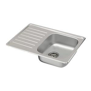 Single bowl top mount sink, stainless steel