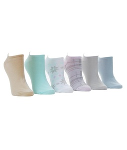 HUE Cotton Low-Cut Socks 6-Pack, One Size, Seamist