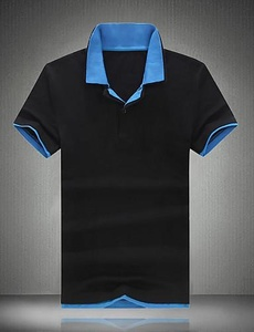 Men's Fashion Color Block Casual Slim Fit Lapel Cotton Short-Sleeve Polos