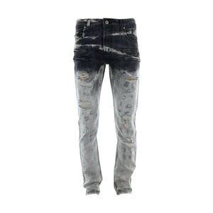 Focus Denim - Men's Motto Rips Jeans - Grey