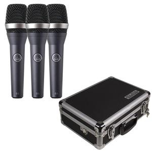 AKG D5 Dynamic Handheld Microphone 3-Pack w/ Solena Case