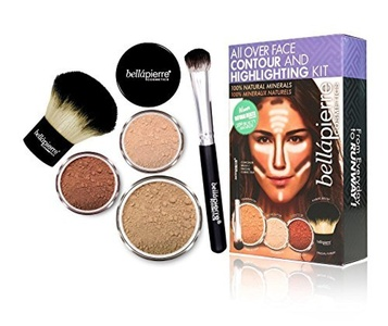 BellaPierre All Over Face Contour and Highlighting Kit - Dark by Bella Pierre