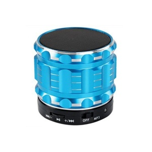 Aolyty Mini Portable Wireless Bluetooth 3.0 Speakers Metal Steel Stereo Speaker Hands Free with FM Radio Support TF Card for Smartphone/Laptop/Tablets/MP3 Player Blue