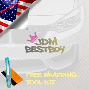 Free Tool Kit EZAUTOWRAP 3D Clear Transparent Carbon Fiber Textured Car Vinyl Wrap Sticker Decal Film Sheet - 12