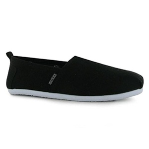 Mens SoulCal Long Beach Canvas Slip Ons Shoes Black (UK 7 / US 7.5)