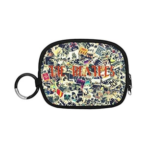HomeWishes The Beatles Polyester Fabric Cute Custom Coin Purse Money Clutch Bags