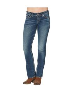 Silver Women's Suki Mid-Rise Bootcut Jeans Plus Size Blue 16