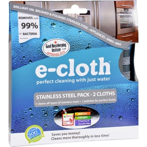 2Pack! E-Cloth Stainless Steel Cleaning Cloth - 2 Pack