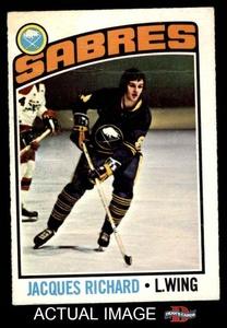 1976 O-Pee-Chee NHL # 8 Jacques Richard Buffalo Sabres (Hockey Card) Dean's Cards 2 - GOOD