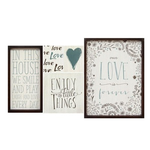 Stratton Home Decor S01953 Love Is Forever Wall Art, Set of 5