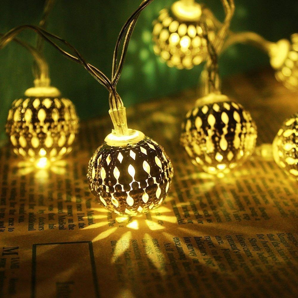 Battery Operated String Lights For Patio : Online Store: Jxz-H String Lights 6.5ft/2m 20 Led Fairy Lights Battery Operated Moroccan Globe ...