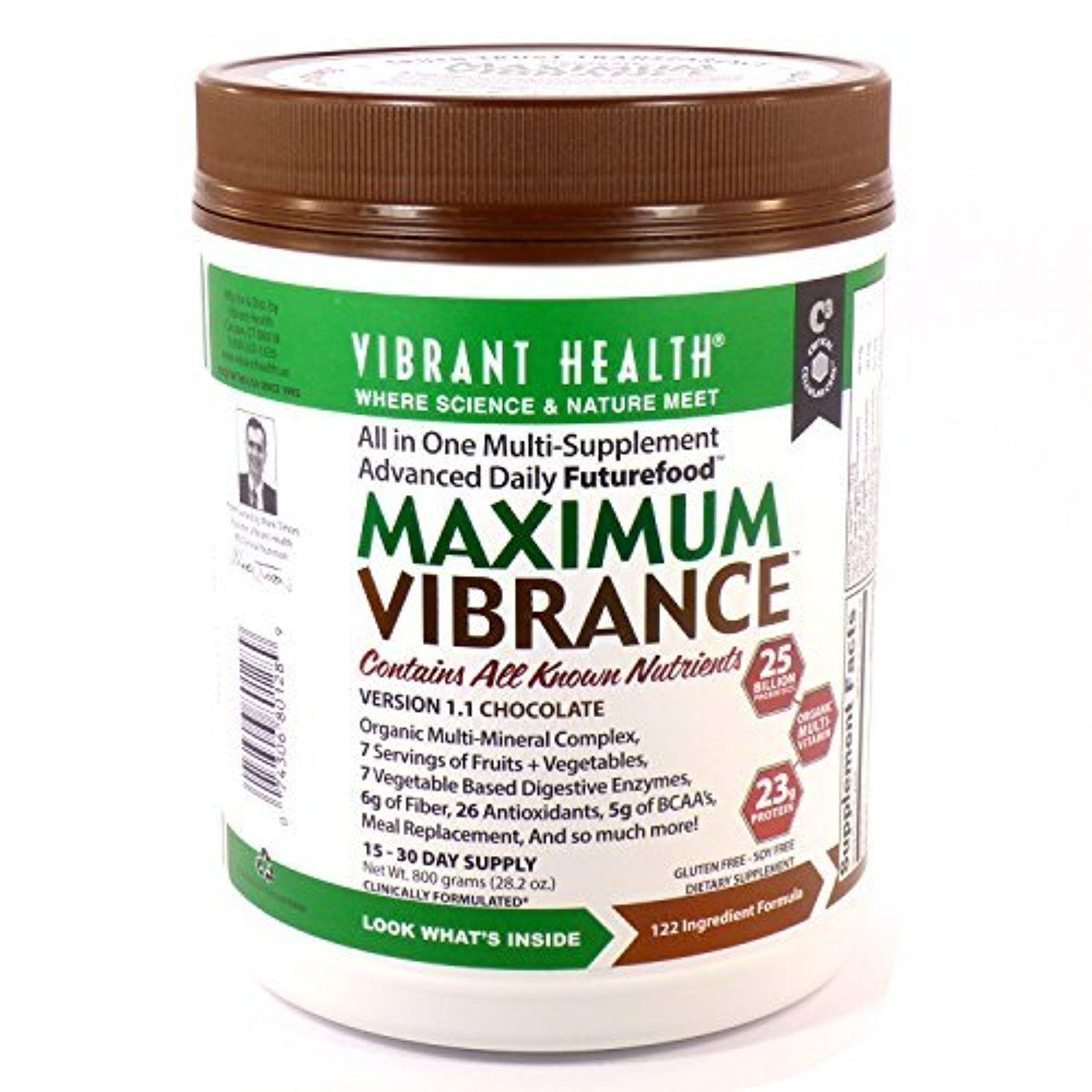 Bundle - 2 Items:1 Maximum Vibrance By Vibrant Health - 800 Grams and 1 VDC Shaker Cup by Vibrant Health