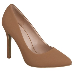 Top Guy Bat-28 Womens Faux Suede Nubuck Pointy Toe Classic Pumps High Heel Mary Jane Stilettos Tan 10