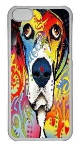 basset hound 02 Custom iPhone 5C Case Cover Polycarbonate Transparent
