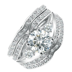 3pcs/set Womens jewelry Wedding Engagement Bridal CZ Cubic Zircon Full Crystal Ring US 6.7.8.9