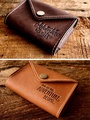 Personalized Top-Grain Leather Multiple Passport Cover
