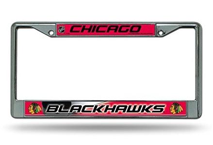 Chicago Blackhawks Metal Chrome License Plate Frame Auto Truck Car NHL