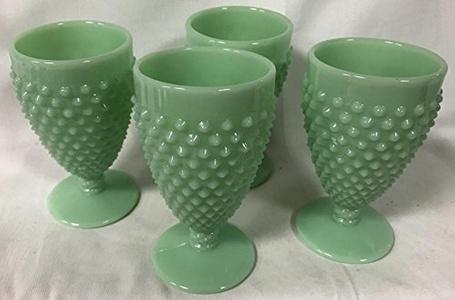 Hobnail Pattern - Tumbler or Juice Glass - Jadeite - American Made - Mosser USA (4)