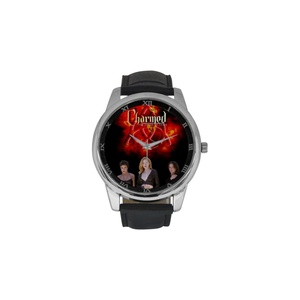 Charmed Girls DBLN604 Men Wrist Watches Leather Strap Large Dial Watch