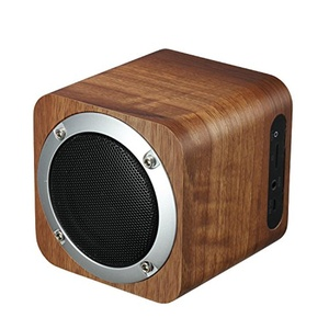 Wooden Bluetooth Speaker 3 Inch Full Frequency Cinema Stereo Surround System AUX Audio Input FM Radio Player