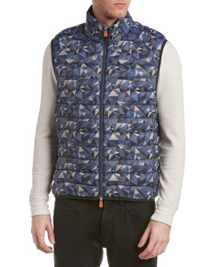 Save The Duck Mens Marc Puffer Vest, L, Blue