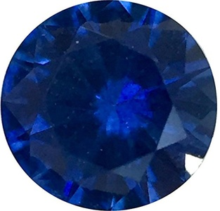 Loose Precision Cut Blue Sapphire Gemstone, Round Shape, Grade AA, 3.50 mm in Size, 0.2 Carats