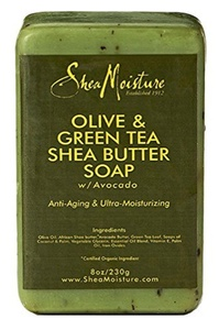 Shea Moisture Soap 8oz Bar Olive & Green Tea Shea Butter (2 Pack) by Shea Moisture