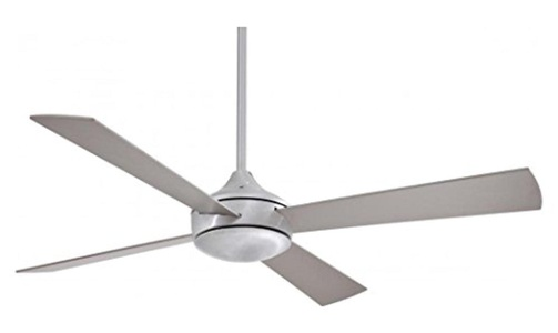 Brushed Aluminum 4 Blade 52In. Ceiling Fan With Blades And Integrated 1 Bulb Light Kit Included