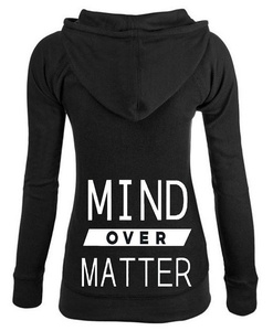 Junior's Mind Over Matter Thermal Zipper Hoodie Large Black