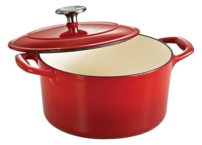 Tramontina Enameled Cast Iron Covered Round Dutch Oven, 3.5-Quart, Gradated Red by Tramontina