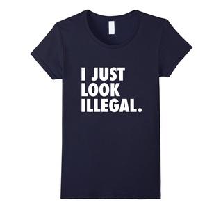 Women's I Just Look Illegal T-Shirt Medium Navy