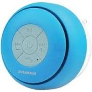 SYLVANIA SP230-BLUE Bluetooth Suction Cup Shower Speaker (Blue)