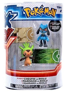 Pokemon X & Y Chespin vs Riolu Figure 2-Pack by Pokemon Black & White Toys & Action Figures