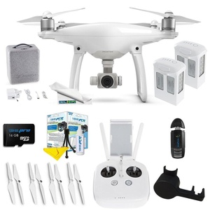 DJI Phantom 4 + (2) DJI Phantom 4 Intelligent Flight Battery + Expo-Essentials Accessory Bundle