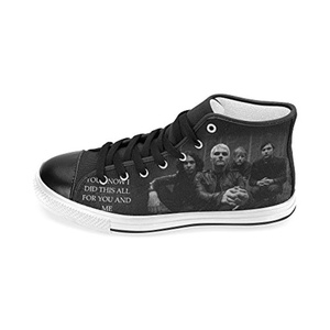 H-MOE Art My Chemical Romance Men's Canvas Shoes High-top Lace-up Breathable Sneakers,Black