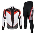 ARSUXEO® Cycling Jersey with Tights Men's Long Sleeve BikeBreathable / Thermal / Warm / Quick Dry / 3D Pad / Limits Bacteria / Reflective