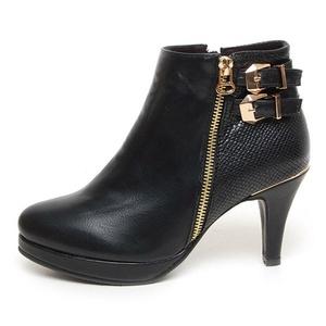 EpicStep Women's Black Casual Dress Formal Platform Ankle Boots Lady Pumps Booties High Heel Buckle Strap Shoes 6 M US