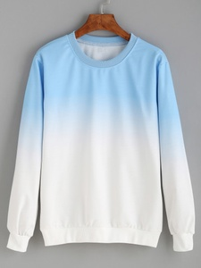 Pullover Sweatshirt in Blue Ombre