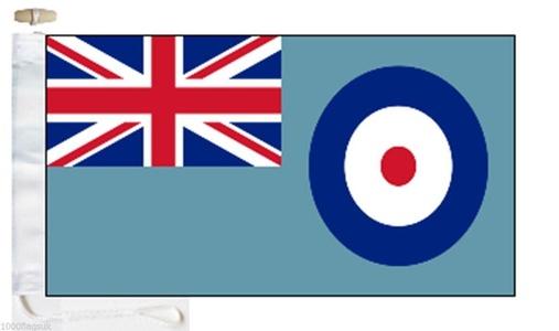 Royal Air Force RAF Ensign Courtesy Boat Flag - Roped & Toggle - 5'x3' - 150cm x 90cm