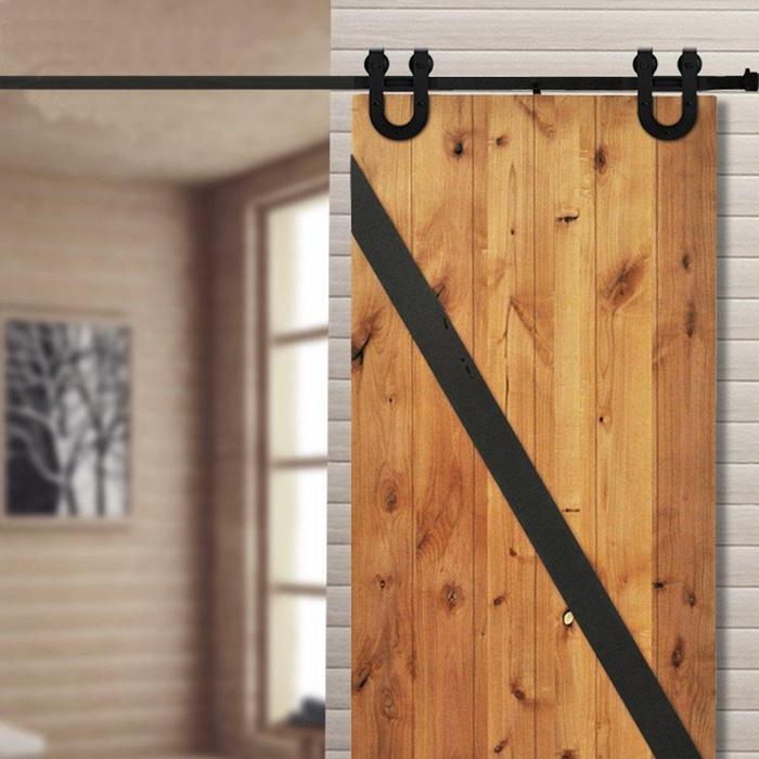 Online store hahaemall 12ft sliding barn door hardware for 12 foot sliding glass door cost