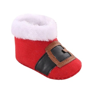 Fheaven Christmas Baby Toddler Infant Snow Boots Soft Sole Prewalker Crib Shoes (US:4( Age:12~18 Month), Red)