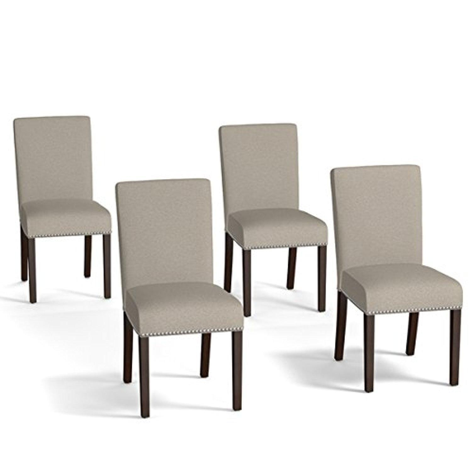 Online store dining chairs accent chair transitional for Upholstered linen dining chairs